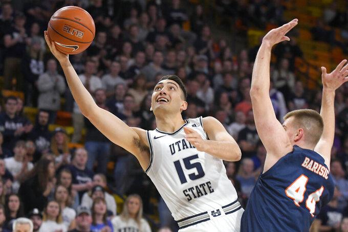No. 15 Utah State routs UTSA 82-50