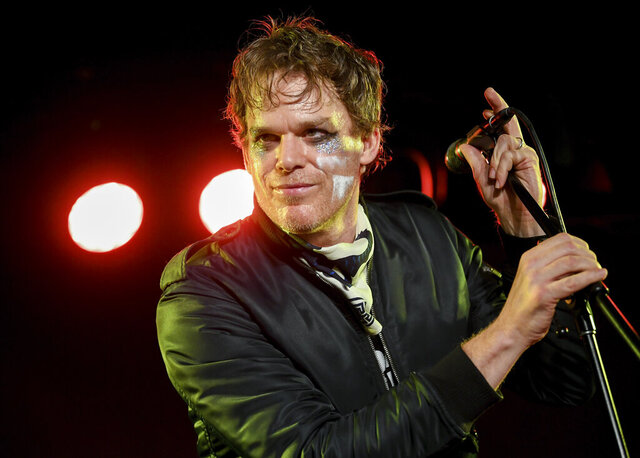 Actor and singer Michael C. Hall performs with his band Princess Goes To The Butterfly Museum at the Mercury Lounge on Thursday, March 12, 2020, in New York. (Photo by Evan Agostini/Invision/AP)