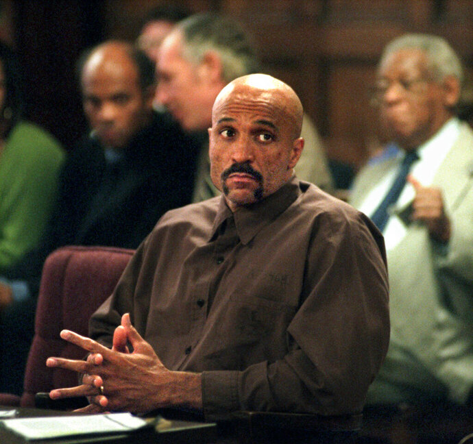 In this October 1998 photo Robert Wideman sits in Judge McGregor's court in Pittsburgh. Wideman, the brother of prize-winning author John Edgar Wideman has moved one step closer to freedom, after a Pennsylvania parole board recommended pardoning him for a 1975 killing. Wideman was sentenced to life without parole and has been in a state prison since his conviction in a shooting case. He was the subject of his older brother's acclaimed 1984 memoir