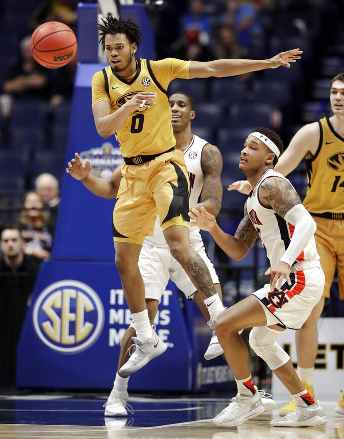 No. 22 Auburn shakes off Missouri 81-71 at SEC Tournament