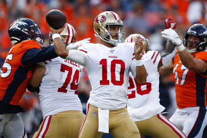 Shanahan downplays Garoppolo's rough return to action