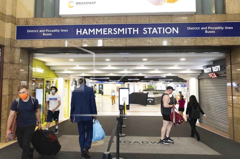 Freedom Day at Hammersmith Tube Station - London, UK - 7/19/21