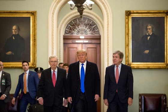 Donald Trump, Mitch McConnell, Roy Blunt