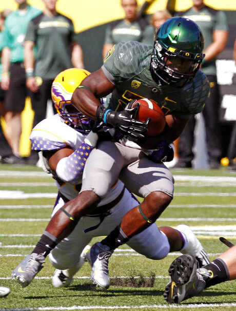 Kenjon Barner, Howard Griffin