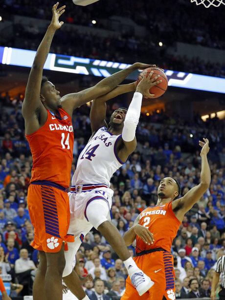 NCAA Clemson Kansas Basketball