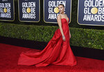 Scarlett Johansson arrives at the 77th annual Golden Globe Awards at the Beverly Hilton Hotel on Sunday, Jan. 5, 2020, in Beverly Hills, Calif. (Photo by Jordan Strauss/Invision/AP)