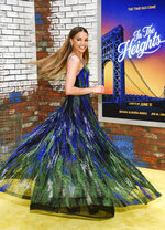 """Actor Leslie Grace attends the 2021 Tribeca Film Festival opening night premiere of """"In The Heights"""" at the United Palace theater on Wednesday, June 9, 2021, in New York. (Photo by Evan Agostini/Invision/AP)"""