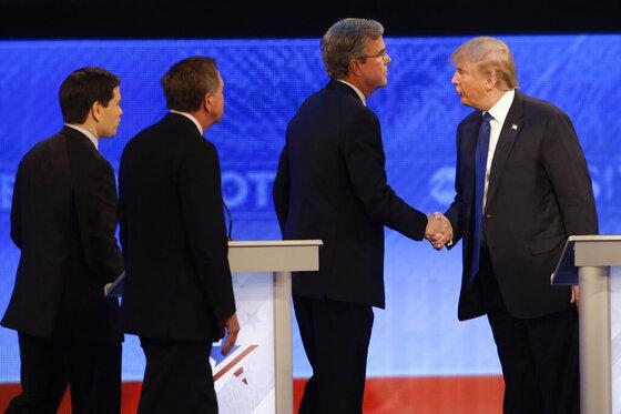 Marco Rubio, John Kasich, Jeb Bush, Donald Trump