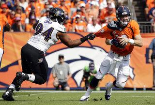APTOPIX Ravens Broncos Football