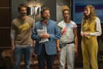 This image released by Netflix shows Ryan Gaul, from left, Zach Galifianakis, Jiavani Linayao and Lauren Lapkus in