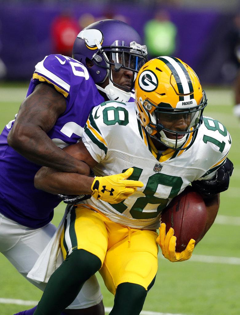 APTOPIX Packers Vikings Football