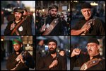 In this combination photo of six photographs shows Shiite Muslims beat themselves with chains during a Muharram procession, in Baghdad, Iraq, Monday, Sept. 9, 2019. Muharram, the first month of the Islamic calendar, is a month of mourning for Shiites in remembrance of the death of Hussein, the grandson of the Prophet Muhammad, at the Battle of Karbala in present-day Iraq in the 7th century. (AP Photo/Khalid Mohammed)