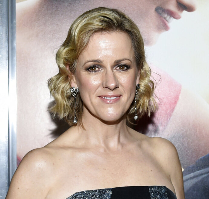 FILE - In this May 23, 2016 file photo, author Jojo Moyes attends the world premiere of