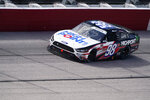 Chase Briscoe (98) moves on the track during a NASCAR Xfinity Series auto race Saturday, Sept. 5, 2020, in Darlington, S.C. (AP Photo/Chris Carlson)