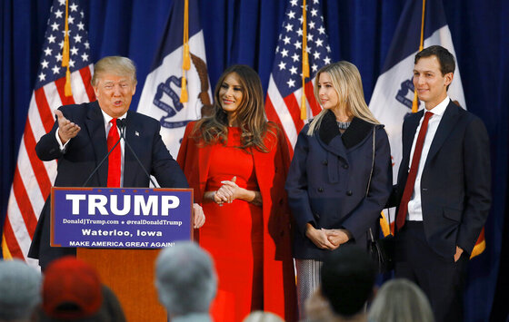 Donald Trump, Melania Trump, Ivanka Trump, Jared Kushner