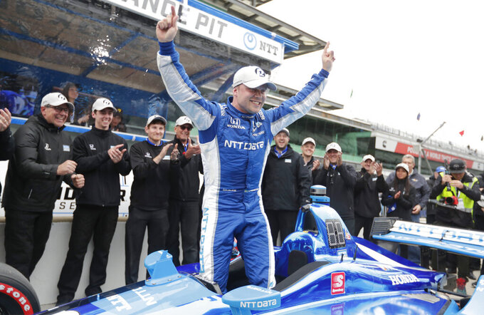 Sweden's Rosenqvist off to strong IndyCar rookie season