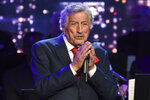 FILE - Singer Tony Bennett performs at the Statue of Liberty Museum opening celebration on May 15, 2019, in New York. Bennett turns 94 on Aug. 3. (Photo by Evan Agostini/Invision/AP, File)