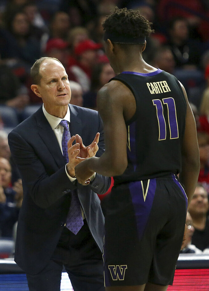 Washington beats Arizona 67-60 to increase Pac-12 lead