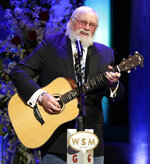 "FILE - Charlie Daniels performs during a memorial service for country music singer Troy Gentry at the Grand Ole Opry House on Sept. 14, 2017, in Nashville, Tenn. Daniels who had a hit with ""Devil Went Down to Georgia"" has died at age 83. A statement from his publicist said the Country Music Hall of Famer died Monday due to a hemorrhagic stroke.  (AP Photo/Mark Humphrey, File)"