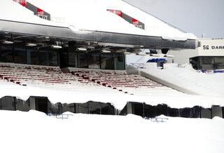 Ralph Wilson Stadium filled with snow