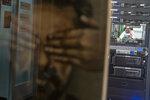 King Salman, of Saudi Arabia, is framed by a