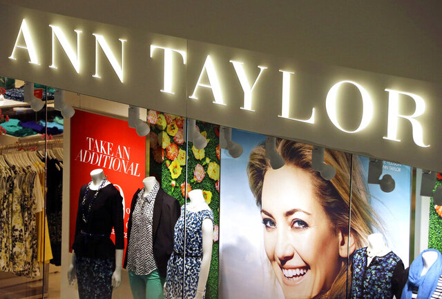 FILE - This March 5, 2013 file photo shows an Ann Taylor store in Mount Lebanon, Pa. The operator of Ann Taylor and Lane Bryant filed for Chapter 11 bankruptcy on Thursday, July 23, 2020, the latest retailer to do so during the pandemic. Mahwah, New Jersey-based Ascena Retail Group Inc., which operates nearly 3,000 stores mostly at malls, has been dragged down by debt and weak sales for years. (AP Photo/Gene J. Puskar, File)