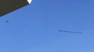 Jets MGM Plane Banner