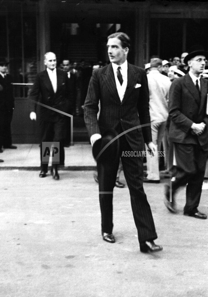 Watchf AP I   CHE APHSL8 Anthony Eden League Council Geneva 1935