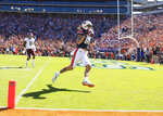 Auburn tight end Sal Cannella (80) makes a catch for a touchdown against Texas A&M during the first half of an NCAA college football game, Saturday, Nov. 3, 2018, in Auburn, Ala. (AP Photo/Todd Kirkland)