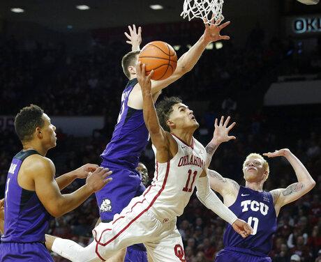 APTOPIX TCU Oklahoma Basketball