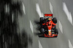 Ferrari driver Kimi Raikkonen of Finland steers his car during second practice at the Marina Bay City Circuit ahead of the Singapore Formula One Grand Prix in Singapore, Friday, Sept. 14, 2018. (AP Photo/Yong Teck Lim)