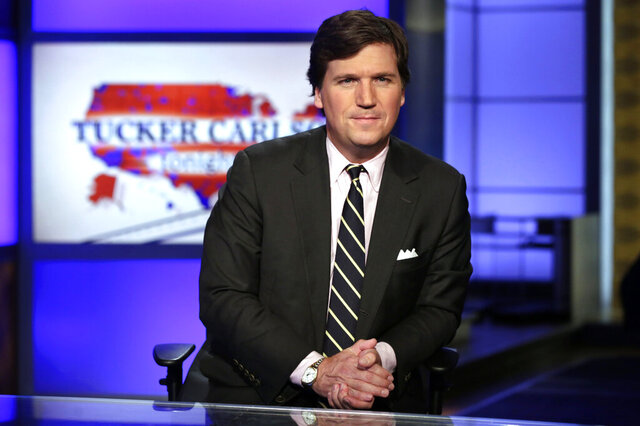 FILE - In this March 2, 2017 file photo, Tucker Carlson, host of