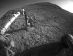 This Jan. 5, 2016 photo made available by NASA shows the tool turret at the end of the the Opportunity rover's robotic arm on the southern side of