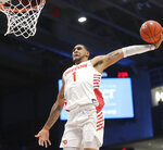 Dayton's Obi Toppin dunks during the first half of an NCAA college basketball game against St. Louis, Saturday, Feb. 8, 2020, in Dayton, Ohio. (AP Photo/Tony Tribble)