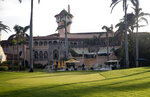 FILE - In this Nov. 24, 2017, file photo shows President Donald Trump's Mar-a-Lago resort in Palm Beach, Fla.  Trump's prized resort in Florida is potentially sitting directly in the path of Hurricane Dorian, which is forecast to become an extremely destructive storm. The resort, which is currently closed for the summer, is on the wealthy barrier island of Palm Beach.  (AP Photo/Alex Brandon, File)