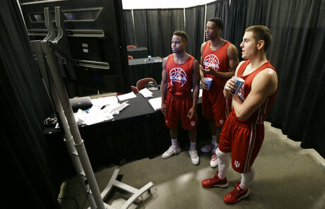 Yogi Ferrell, Troy Williams, Nick Zeisloft