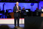 Senior Pastor Dr. Robert Jeffress addresses attendees before Vice President Mike Pence made comments at First Baptist Church Dallas during a Celebrate Freedom Rally in Dallas, Sunday, June 28, 2020. (AP Photo/Tony Gutierrez)