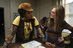 This image released by LD Entertainment and Roadside Attractions shows Lorraine Toussaint as Flo Kennedy, left, and Julianne Moore as Gloria Steinem in a scene from