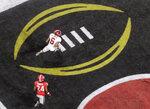Alabama's DeVonta Smith catches a touchdown pass during overtime of the NCAA college football playoff championship game against Georgia Monday, Jan. 8, 2018, in Atlanta. Alabama won 26-23. (AP Photo/John Bazemore)