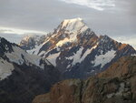 FILE - This March 30, 2014, photo shows Mt. Cook, New Zealand's highest mountain, at sunset in Twizel, New Zealand. New Zealand lawmakers have joined together across the aisle to pass a bill aimed at combating climate change. The Zero Carbon bill aims to make New Zealand reduce its greenhouse gas emissions to the point the country becomes mostly carbon neutral by 2050. (AP Photo/Carey J. Williams, File)