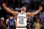 Georgia Tech guard Jose Alvarado (10) reacts after a Tech basket in the first half of an NCAA college basketball against Duke game Wednesday, Jan. 8, 2020, in Atlanta. (AP Photo/John Bazemore)