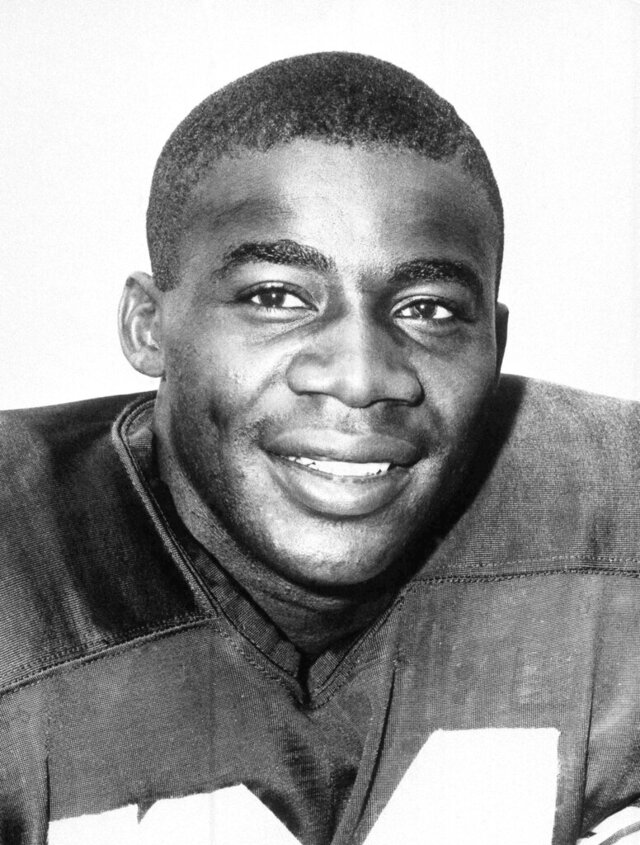 FILE - In this undated file photo shows Willie Wood of the Green Bay Packers. Pro Football Hall of Famer Willie Wood, captain of the 1959 USC football team who played in the first 2 Super Bowls, died today, Monday, Feb. 3, 2020 of natural causes in Washington, D.C.  He was 83.  (AP Photo/File)