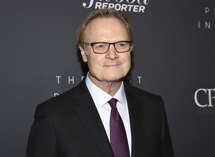 FILE - This April 11, 2019 file photo shows MSNBC host Lawrence O'Donnell at The Hollywood Reporter's annual Most Powerful People in Media cocktail reception in New York. O'Donnell says he made an