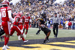 Appalachian State running back Darrynton Evans (3) runs in for a touchdown during the first half of an NCAA college football game against Louisiana-Lafayette in the Sun Belt Football Championship on Saturday, Dec. 7, 2019, in Boone, N.C. (AP Photo/Brian Blanco)