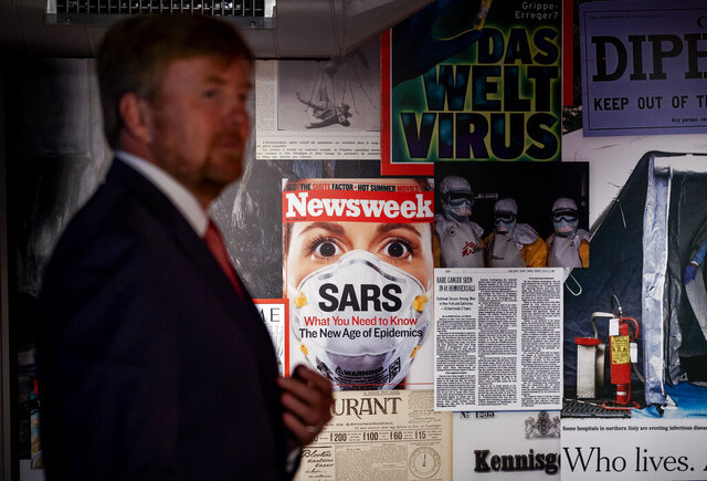 Dutch King Willem-Alexander tours the