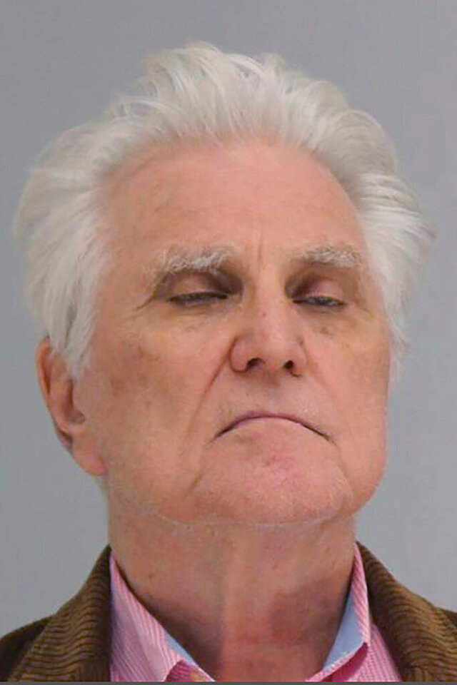This undated photo provided by the Dallas County Sheriff's Department shows William Neil Gallagher. Gallagher, a financial consultant and radio host who stole more than $20 million from investors, has been sentenced to 25 years behind bars after reaching a plea agreement with Dallas County prosecutors. Gallagher, pleaded guilty Friday, March, 10, 2020,to one count each of theft of more than $300,000, money laundering of more than $300,000 and securities fraud of more than $100,000. (Dallas County Sheriff's Department via AP)