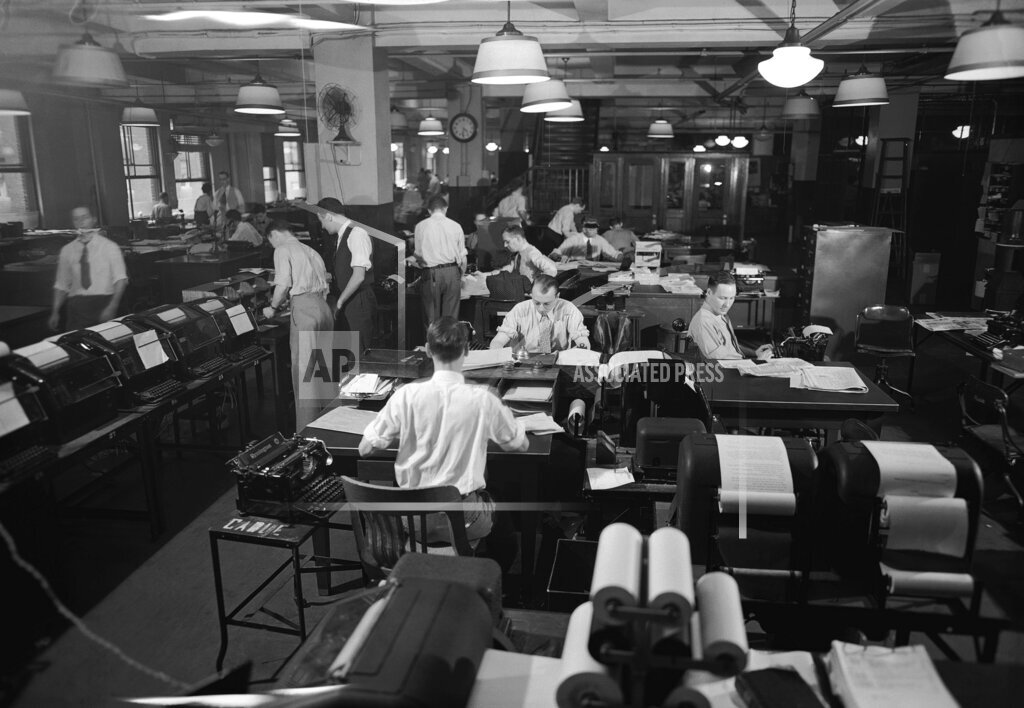 Watchf AP A  NY USA APHS318427 AP Staffers At Work 1937