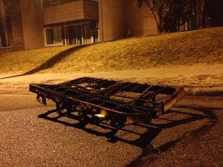 burned futon