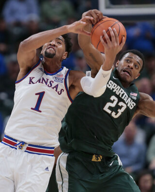 APTOPIX Michigan St Kansas Basketball