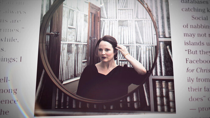 "This image released by HBO shows late writer Michelle McNamara from the six-part docuseries ""I'll Be Gone in the Dark,"" debuting on Sunday. (HBO via AP)"